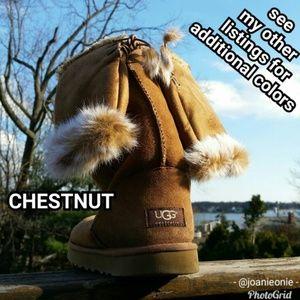 $12 ADD ON - Chestnut Faux FUR Fingerless Gloves